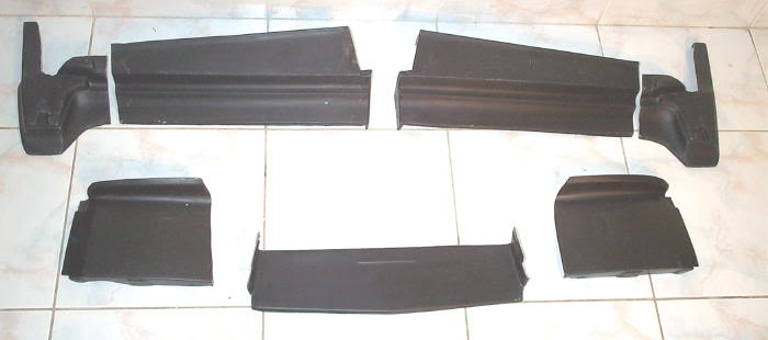 1979-85 Cadillac Eldorado Rear Bumper Filler /quarter panel extension set