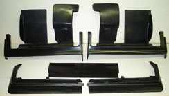 1980-1985 Cadillac Seville 9-pc Set - Bumper Fillers Quarter Panel Extensions