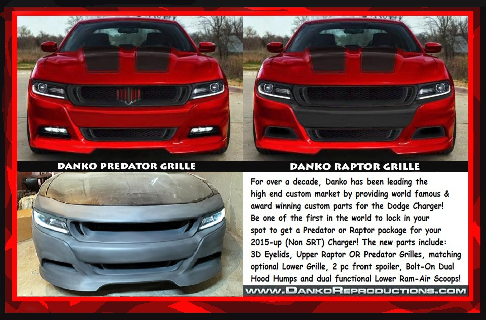 New 2015 And Up Dodge Charger Custom Parts Danko Reproductions